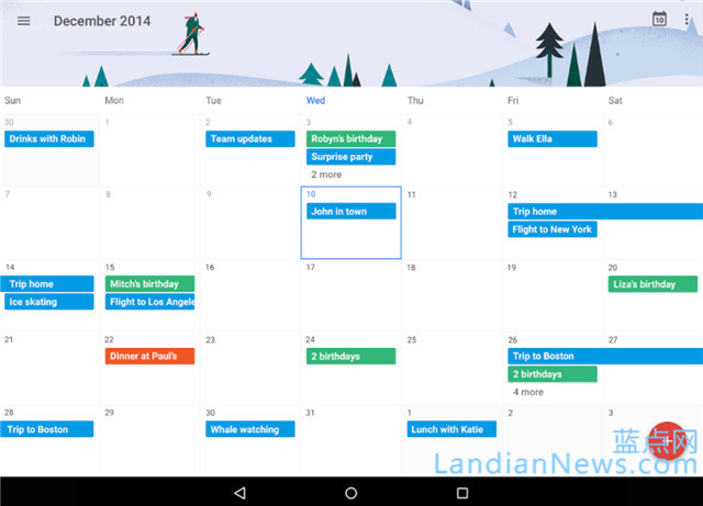 Google更新Calendar for Android 新增7日周视图