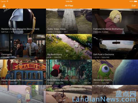 开源播放器VLC for iOS版重新上架 新版V2.4.1 UI变样 [来源:蓝点网 地址:https://www.landiannews.com]