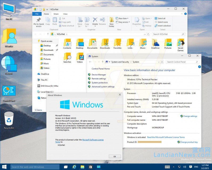 WZor泄露Windows 10 Build 10022更多截图 不过没啥好看的 [来源:蓝点网 地址:https://www.landiannews.com]