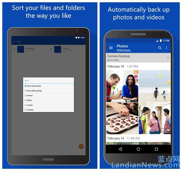 微软更新云存储服务OneDrive for Android版 UI更新Material风格