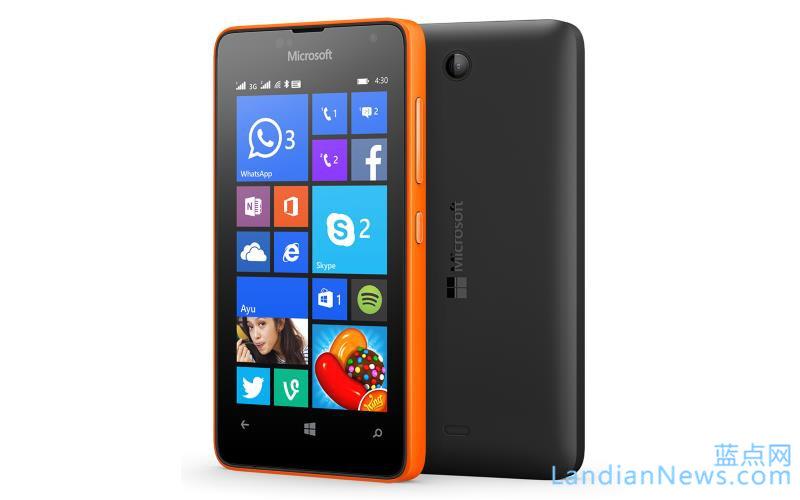 微软发布低端双卡双待Lumia设备Lumia 430:售价仅70美元