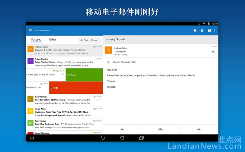 Outlook for Android预览版更新:对联系人管理功能进行重大改进
