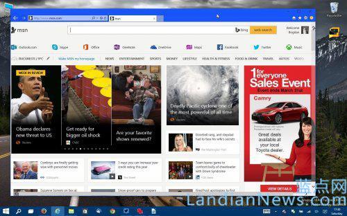 MSN将替代Bing成为Windows 10内置新浏览器Spartan的默认主页