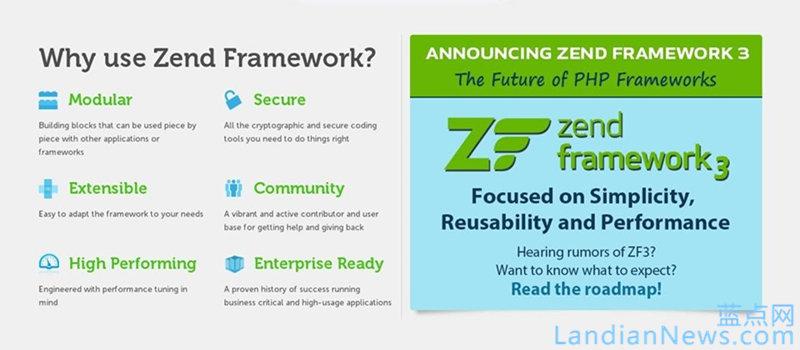 新版Zend Framework 3框架第三季度推出第三版,将支持新一代PHP 7开发语言