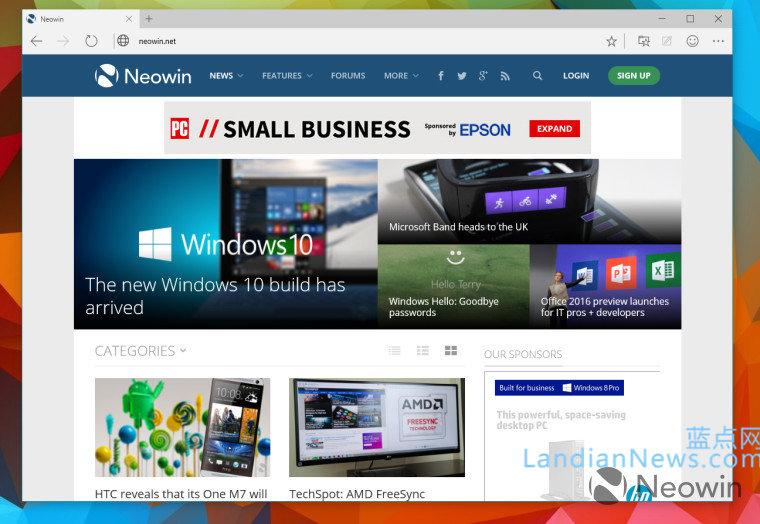 Windows 10 Build 10014版镜像泄露,内置Spartan浏览器