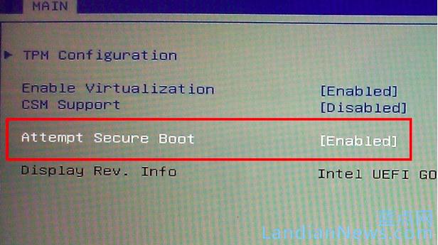 微软允许OEM对 Windows 10电脑不提供关闭Secure Boot的选项
