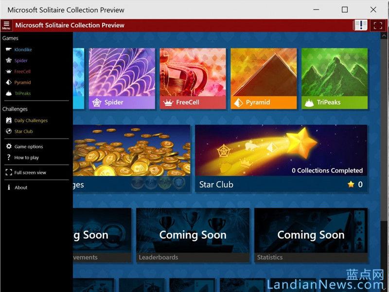 满满的都是回忆:纸牌回归---Windows 10 Build 10056中纸牌游戏回来了 [来源:蓝点网 地址:https://www.landiannews.com]