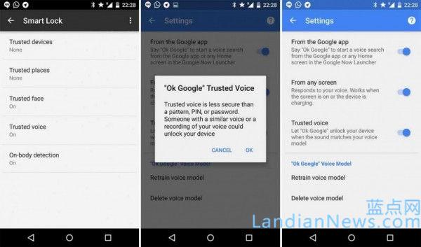 Google向部分Android设备推出语音解锁功能:说句OK Google快速解锁设备