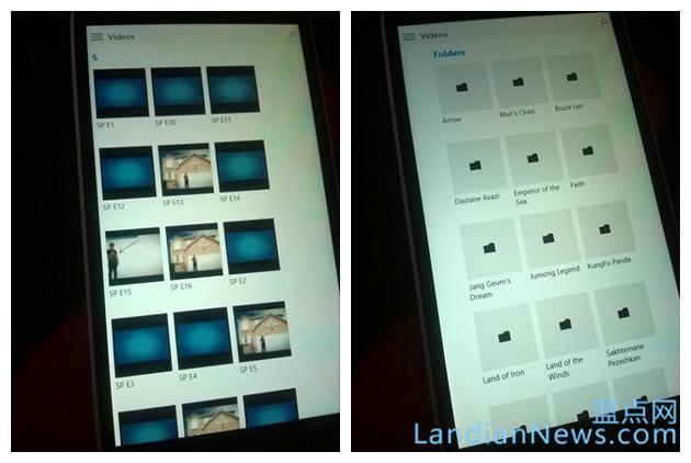 Windows 10手机版音乐和视频通用应用界面泄漏 [本文来源:蓝点网 网址:https://www.landiannews.com]