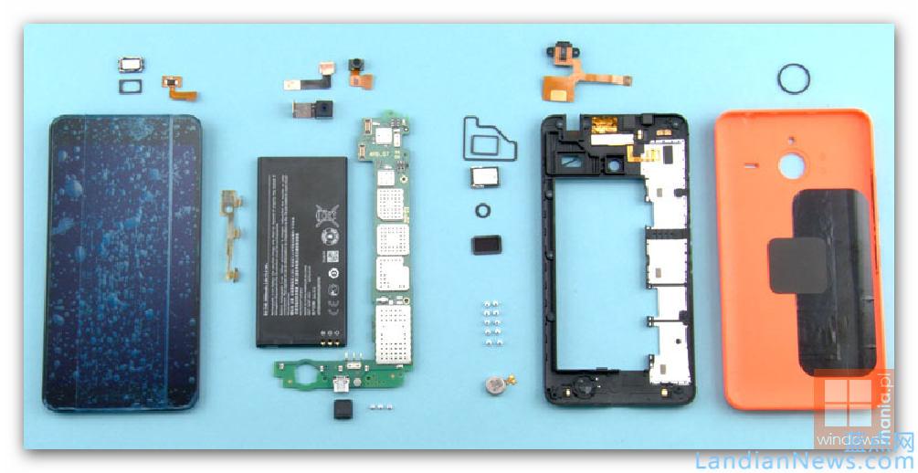 Microsoft Lumia 640 XL 拆解图