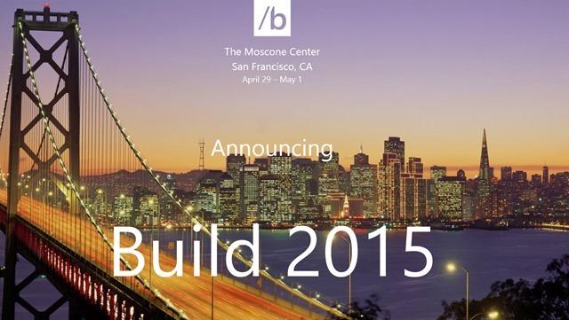 微软暗示Build 2015新产品和服务