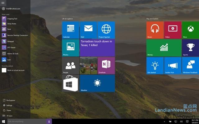 Windows 10 Build 10114 上手,开始菜单更多定制选项