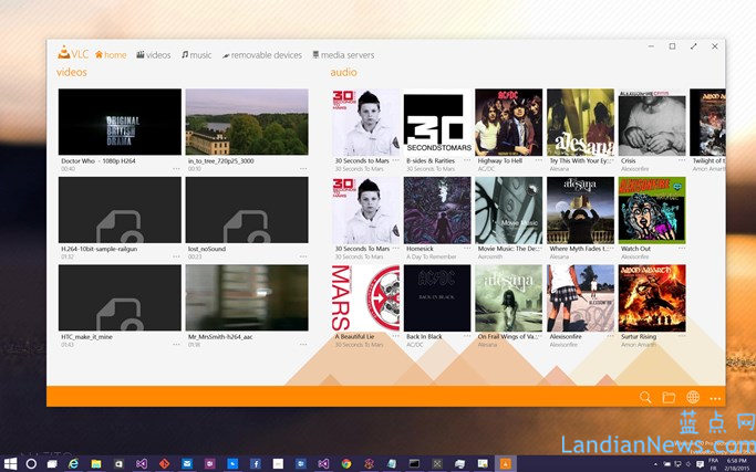 VLC for Windows 8.1/Windows 10版更新:改进导航栏和和修复bug