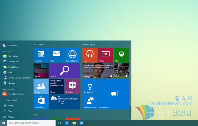 Windows 10 Build 10122版快速上手视频:Microsoft Edge新标签页、开始菜单和其他