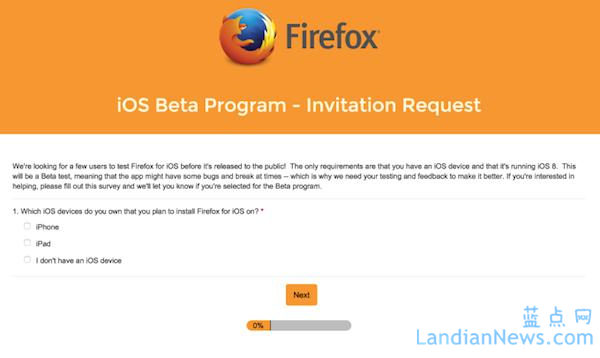 Firefox for iOS将至,Mozilla正在测试中
