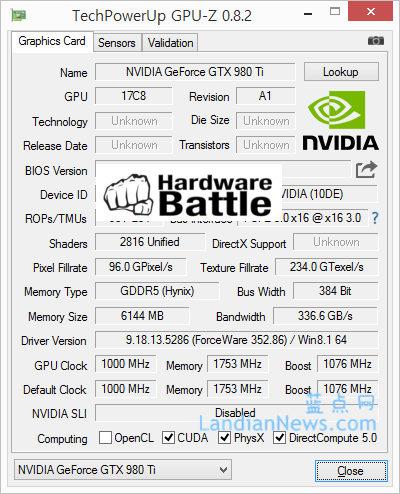 NVIDIA GeForce 980Ti配置曝光:规格介于GTX 980与GTX Titan X之间