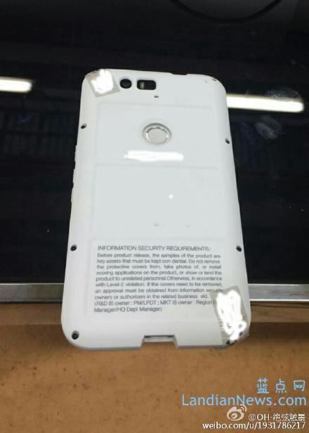 规格照外泄:没有820、华为版Nexus也采用Snapdragon 810处理器、指纹识别在背面